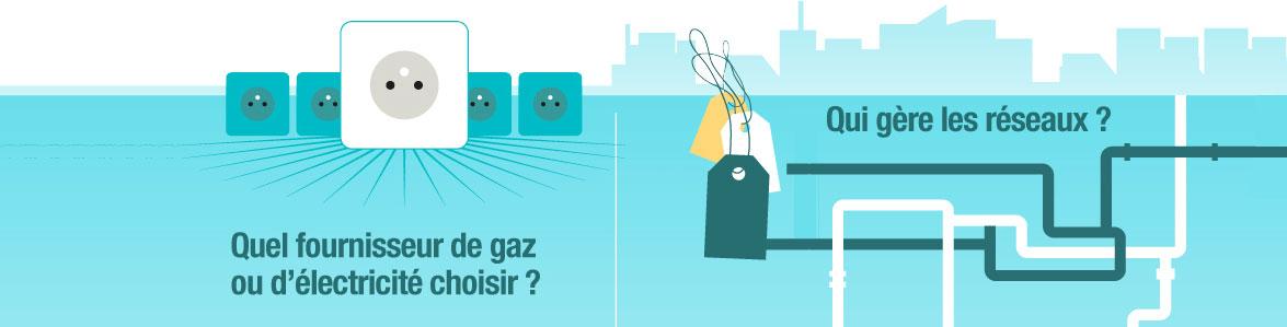 l'électricité et le gaz naturel en un coup d'oeil