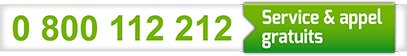 Service & appel gratuits: 0 800 112 212